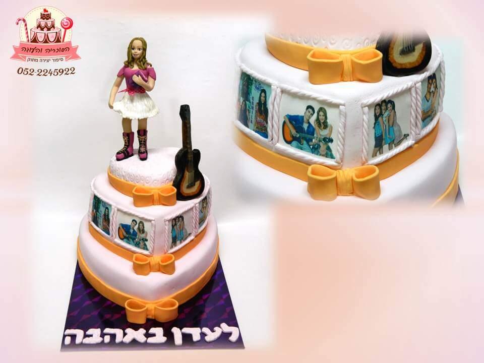 עוגת יום הולדת  ויולטה שתי קומות