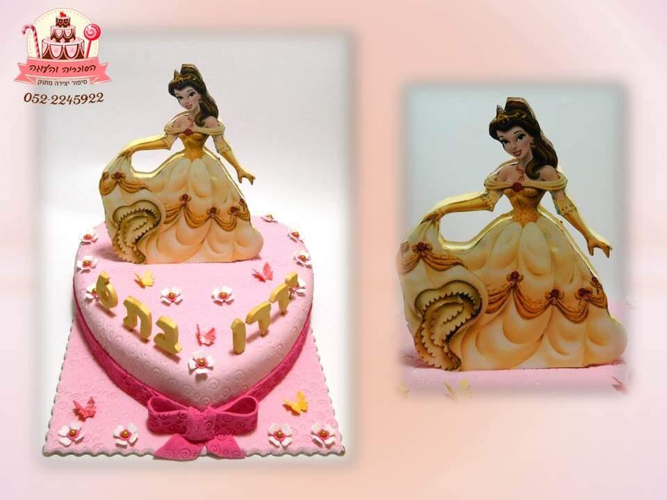 עוגת בצק סוכר תמונה נסיכה