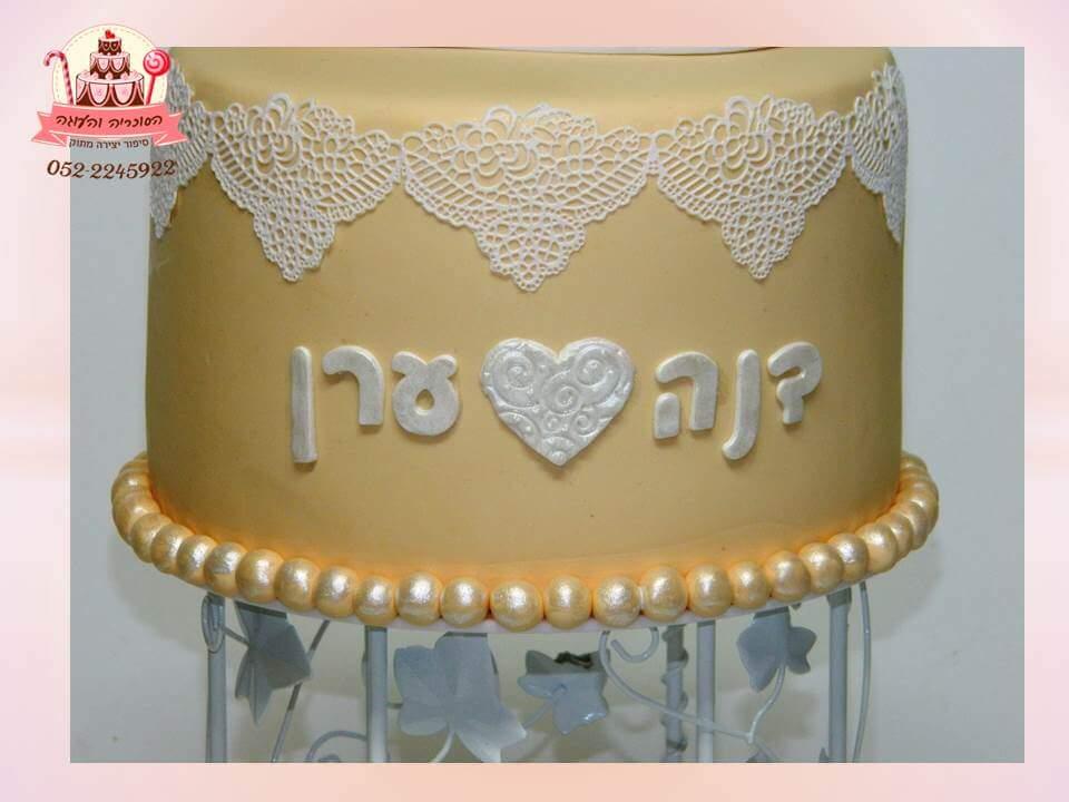 עוגה מעוצבת תחרה