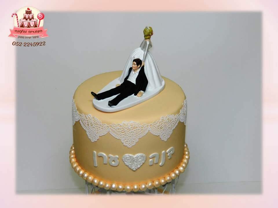 עוגה מעוצבת חתן וכלה