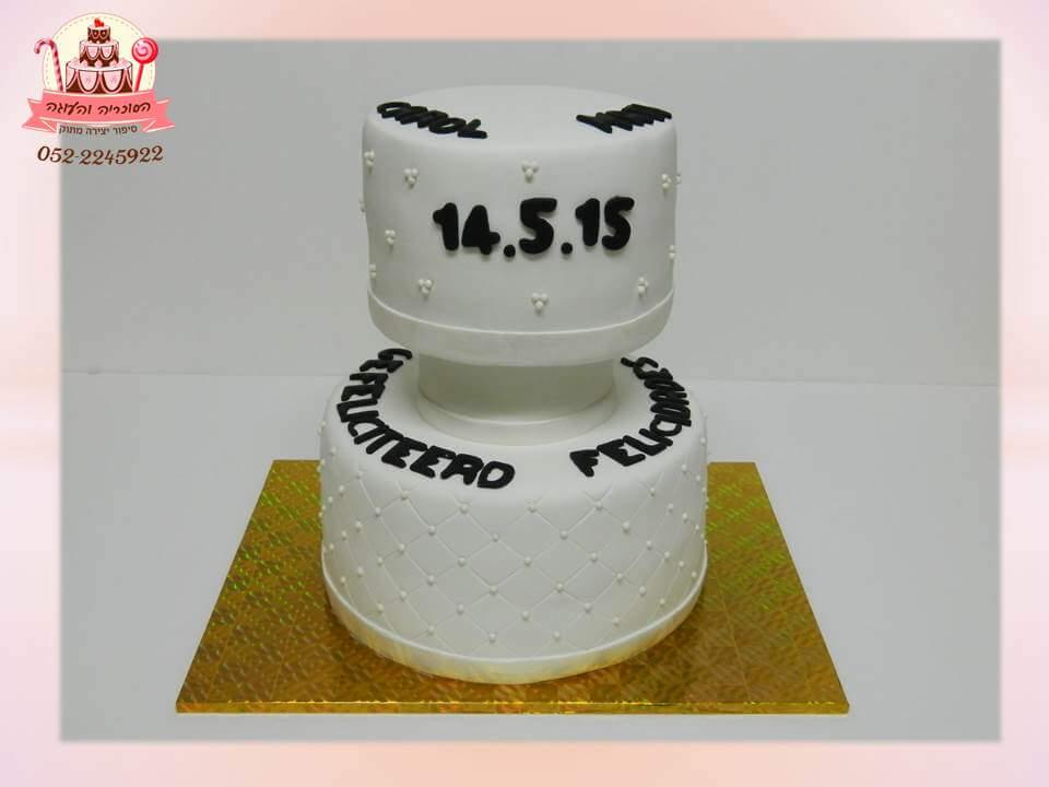 עוגה מעוצבת לחתונה קלאסית